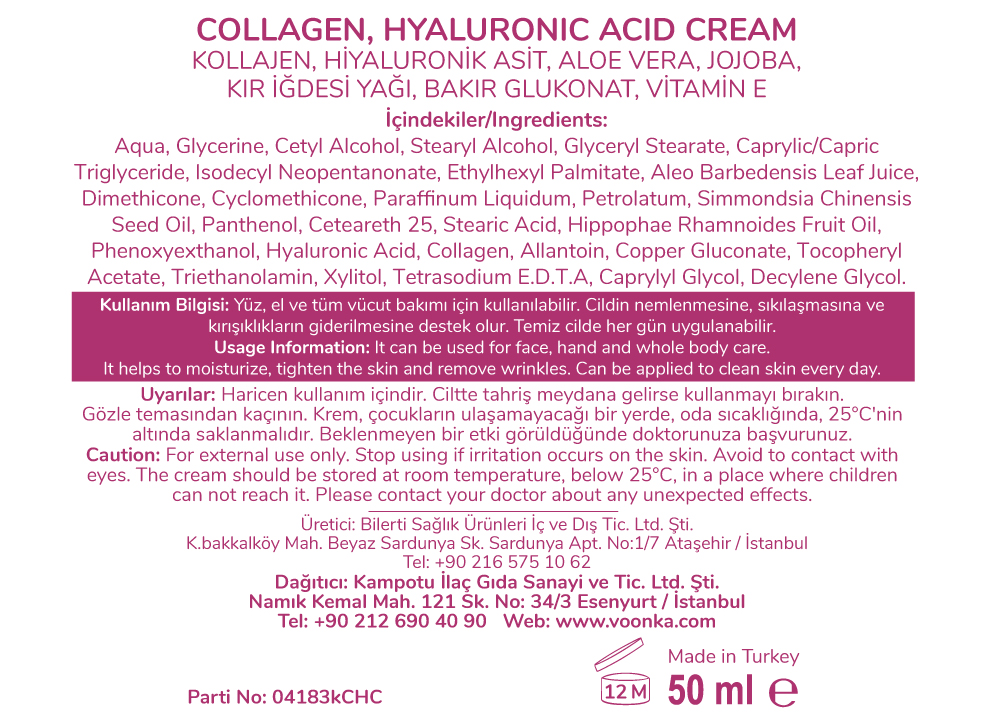 collagen-cream etiketi